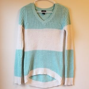 Blue & White Knit Sweater